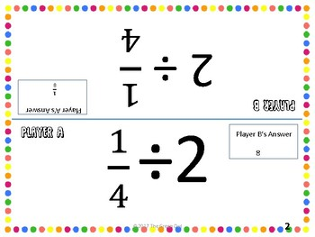 Dividing Fractions Math Tents