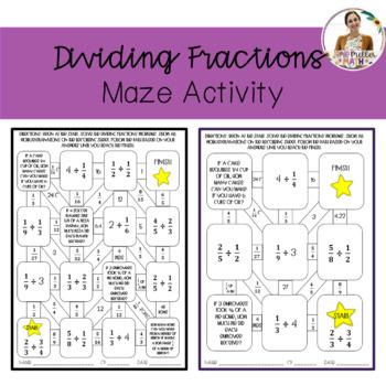 Dividing Fractions Maze Activity