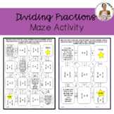 Dividing Fractions Maze Activity