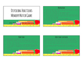 Dividing Fractions Memory Match Game