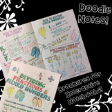 Dividing Fractions & Mixed Numbers - Decorated Notes Brochure for INB