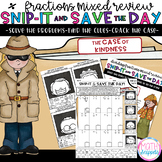 Dividing Fractions Mixed Review - Snip-It & Save - The Cas