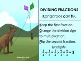 Dividing Fractions Mnemonic Poster