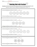 6.NS.A.1 Dividing Fractions Modeling with Pictures Practice