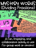Dividing Fractions- Mystery Word Activity