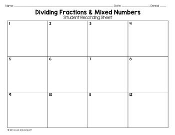 Dividing Fractions (PUZZLE)