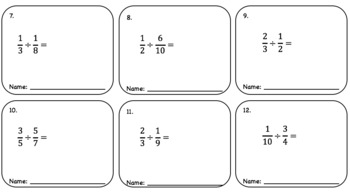 Dividing Fractions – Pass the Paper (Cooperative Learning Activity)
