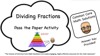 Dividing Fractions – Pass the Paper (Cooperative Learning
