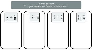 Dividing Fractions (PowerPoint Lesson with Printables!)