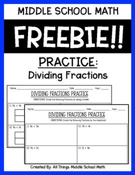 Dividing Fractions (Practice)