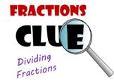 Dividing Fractions Pre-Algebra Clue Game