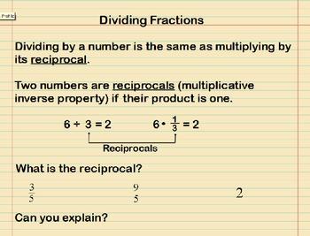 Dividing Fractions Presentation