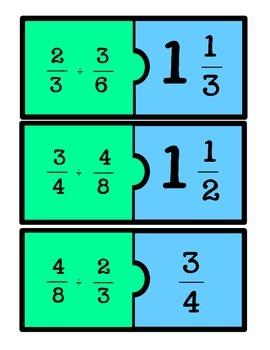 Dividing Fractions Puzzles