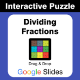 Dividing Fractions - Puzzles with GOOGLE Slides