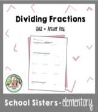 Dividing Fractions Quiz