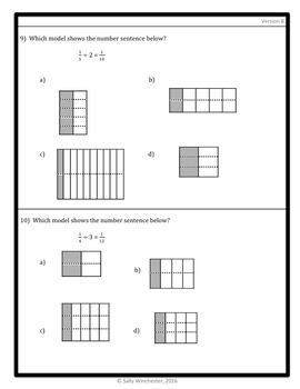 Dividing Fractions Quiz: Unit Fraction by Whole Number, 5.NF.7A Assessment