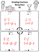 Dividing Fractions Relay Race