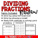 Dividing Fractions Review