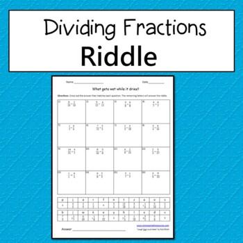 Dividing Fractions Riddle