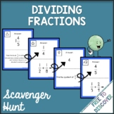 Dividing Fractions Activity - Scavenger Hunt