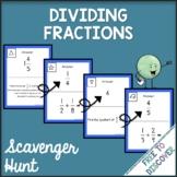 Dividing Fractions Scavenger Hunt Activity