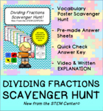 Dividing Fractions Scavenger Hunt