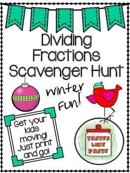 {FREEBIE} Dividing Fractions Scavenger Hunt: Fractions by