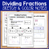 Dividing Fractions Sketch Notes