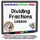 Dividing Fractions Divide Smartboard Lesson Cross Simplify Keep Change Flip it
