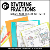 Dividing Fractions Solve and Color