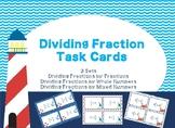 Dividing Fractions Task Card Bundle~3 Sets~72 Task Cards~6.NS.1