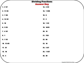 Dividing Fractions Task Cards Practice Activity: 4th 5th 6th Grade