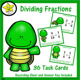 Dividing Fractions Task Cards  Distance Learning