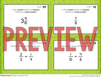 Dividing Fractions Task Cards
