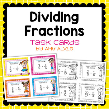 Fraction Task Cards - Dividing Fractions - SCOOT