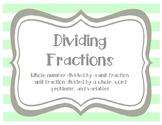 Dividing Fractions Taskcards