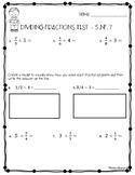 Dividing Fractions Test (5.NF.B.7, 5.NF.B.7.a, 5.NF.B.7.B, 5.NF.B.7.C)