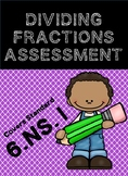 Dividing Fractions- Test / Assessment 6.NS.1