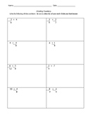 Dividing Fractions Test- Editable