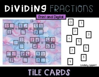 Dividing Fractions Tile Cards