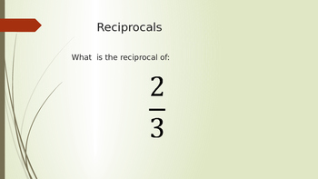 Dividing Fractions - Two Day Lesson