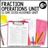 Fraction Operations Unit: 6th Grade Math (6.NS.1, 6.NS.4)
