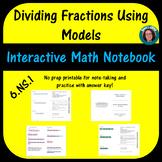 Dividing Fractions Using Models 6.NS.1