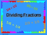 Dividing Fractions Using Visual Models Powerpoint