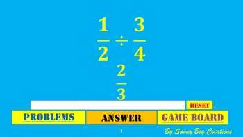 Dividing Fractions Wheel of Knowledge Powerpoint Game
