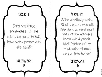 Dividing Fractions & Whole Numbers Scavenger Hunt