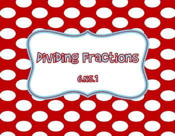 Dividing Fractions Word Problems 6.NS.1