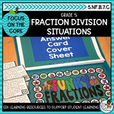 Dividing Fractions Word Problems- Math Center Activity and