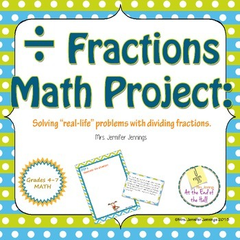 Dividing Fractions Word Problems Math Project