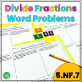 Dividing Fractions Word Problems Pack 1 (5.NF.7)